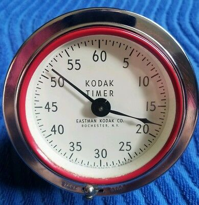 Vintage Kodak Timer Clock Darkroom Photo Developing Timer 8239 Eastman Kodak Co.