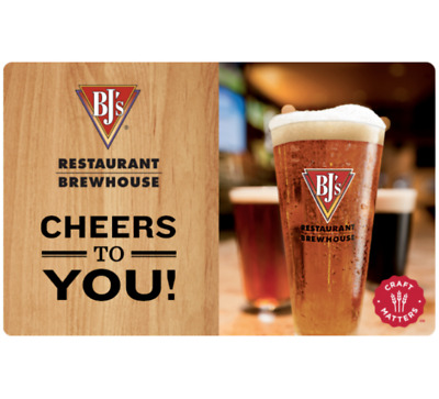Buy a $50 BJ's Restaurants Gift Card for only $40 - Fast email delivery