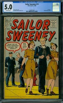 Sailor Sweeney 14 CGC 5.0 - OW Pages