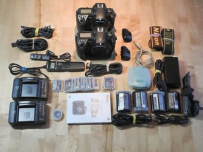 Nikon D2Xs (2 bodies) Digital SLR and large lot of accessories.
