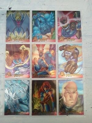 X-Men - Fleer Ultra 1995 - 100 Chrome Card Base set + 15 Alternate X cards