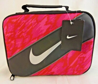 99f5c2daf6 NIKE CONTRAST INSULATED Reflective Pink Black Tote Lunch Bag Lunch ...
