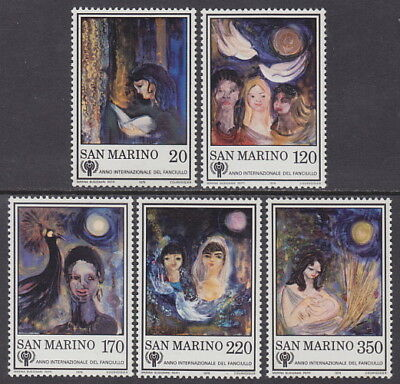 SAN MARINO - 1979 International Year of the Child (5v) - UM / MNH