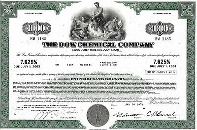 The Dow Chemical Company, 7,625% Debenture due 2003, 1974 (1.000 $)