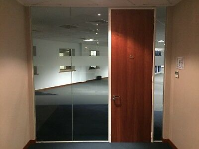Glass Partitions - Glass Office Walls - Meeting Room - 10mm Toughened with track