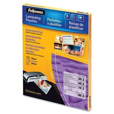 Fellowes, Inc. 5208502 Laminating Pouches Asst 3Mil 130Pk,dds Must Be Ordered...