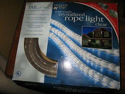 Holiday time 18 clear crystallized rope light 3547 picclick holiday time cool touch crystallized rope light clear aloadofball Gallery