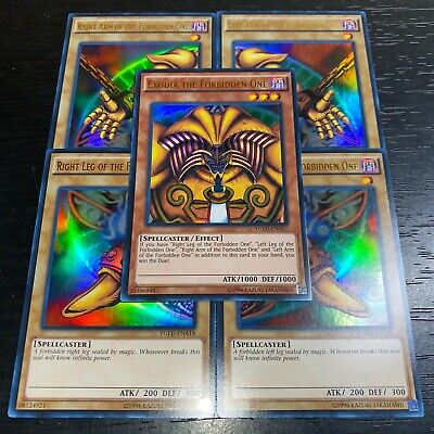 Yugioh: Exodia The Forbidden One 5 Card Secret Rare Lcyw Complete Set Nm
