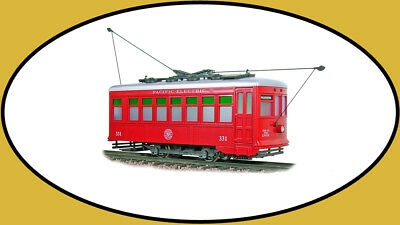 Hartland G-Scale Birney Pacific Electric Red 09300