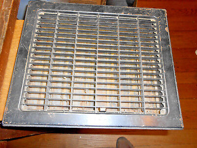 Rectangular Steel Floor Register Heat Grate Made For 10 X 12 Duct  W/ Louvers