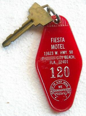Vintage Fiesta Motel Panama City Beach, Fla Key & Fob