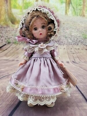"Madame Alexander doll 8"" Vintage Violet Silk Victorian -used, sold as is, no box"