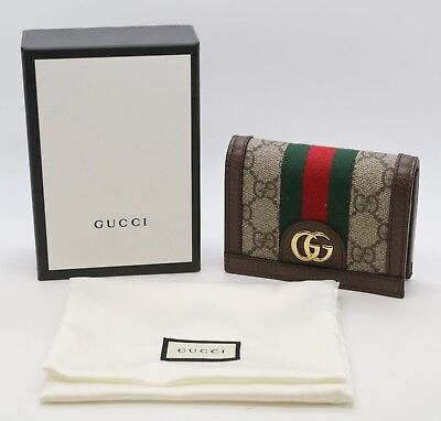 8ee8a8485810 GUCCI OPHIDIA GG Card Case Wallet Style: 523155 96IWG 8745 - $370.00 ...