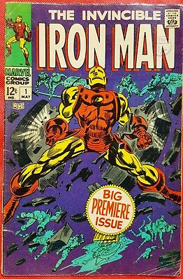 IRONMAN 1 MARVEL SILVER AGE 1968 Big Premiere Issue