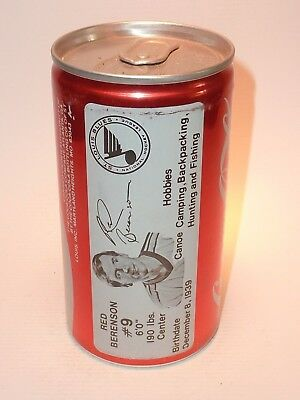 12oz Aluminum Coca Cola Sta-Tab Featuring St. Louis Blues Star Red Berenson