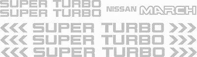 Nissan March Super Turbo Replacement Decals oem design any colour