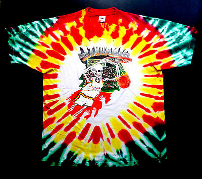 Grateful Dead Shirt T Shirt Vintage 1992 Lithuania Basketball Olympic NBA NFA XL