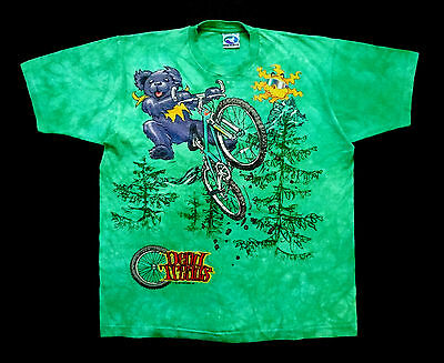Grateful Dead Shirt T Shirt Vintage 1995 Mountain Bike Cycling Wheel Tie Dye XL