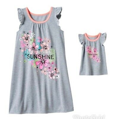 """NWT Girls 5/6 SO 18"""" Doll & Matching Nightgown Pajamas Dollie Me American Girl"""