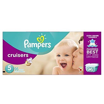 FREE SHIPPING! Pampers Cruisers Disposable Diapers Size 5, 96 Count, GIANT