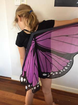 AUST Mauve Butterfly Wings Costume Dressup KIDS CHILD New cosplay Soft NEW