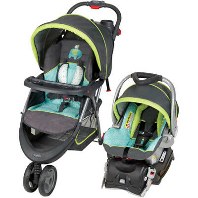 Baby Jogging Stroller Infant Car Seat Fitness Exercise Plus Mothers Cup Holder