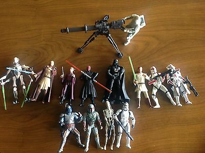 Star Wars Action Figures Lot of 13 Sold as is
