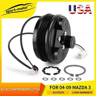 A/C AC Compressor Clutch Kit Hub Pulley Bearing for 04-09 Mazda 3 BP4S61K00