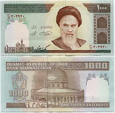 Middle East 1992 1000 Rials B/note mint UNC P143c Signature 28 - #BN586 NTO60 05