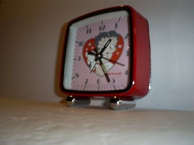 2005 Vintage Style BETTY BOOP & Her Dog PUDGY Alarm Clock Collectible Works!