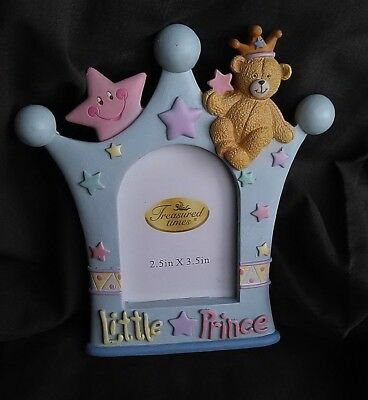 Used Baby Boys Little Prince Standing Photo Frame Keepsakes Decor Gift Baby Boys