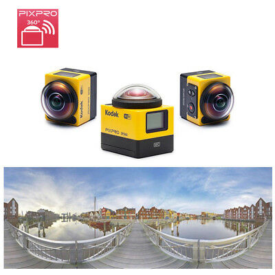 New Kodak PIXPRO SP360 Wi-Fi 16MP HD Video 360 degree VR Action Camera
