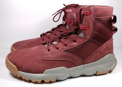"Nike SFB Size 10 Boot 6"" Special Field Dark Team Red Gum Leather 862507- f39c432bd"