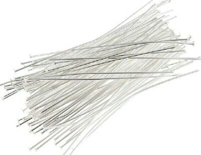 Head Pins - Bright Silver - 50Mm - 500 Pieces - New