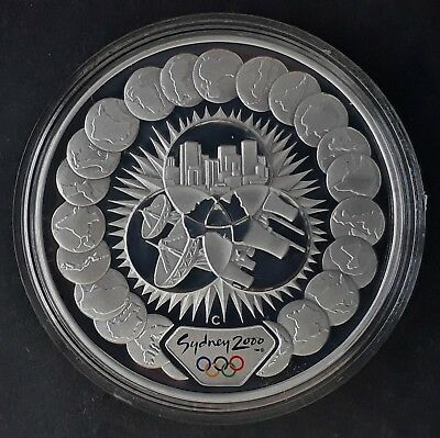 2000 Australia Sydney Olympic ( 99.9% ) $5 Coin Reaching the World - Commerce