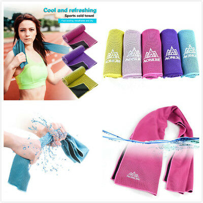Microfibre Quick Drying Ice Towel Camping Sport Gym Beach Rapid Cooling Towel@LM