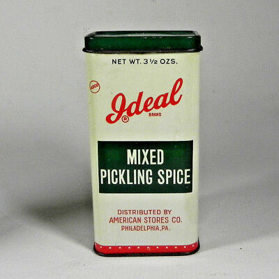 vintage IDEAL MIXED PICKLING SPICE TIN American Stores Philadelphia PA