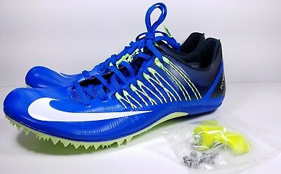 save off 5d424 9e87a Nike Size 11 Spikes Zoom Celar 5 Track Running Blue Black Green 629226-413  Mens