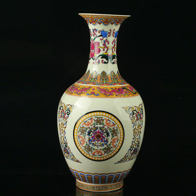 Chinese Porcelain Hand-Painted Pattern Vase Mark As The Qianlong Period R1021
