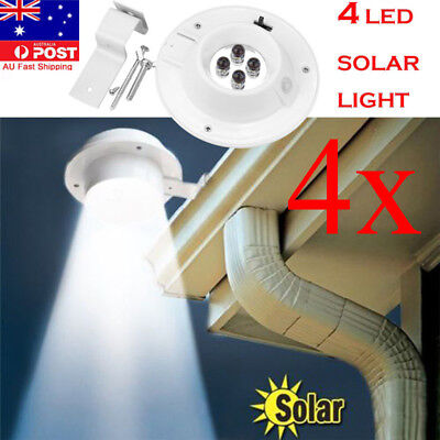 1x2x4x Waterproof Solar Power Motion Sensor 4 LED Wall Lamp Outdoor Fence Light