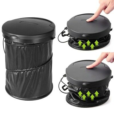 Car Trash Bin Waste Basket Storage Garbage Can Litter Leakproof Bag Organizer AU