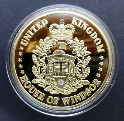 Royal Baby Prince George Of Cambridge 2013 - 1Oz 0.999 Gold Layered Coin