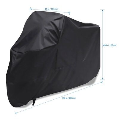 Waterproof Motorcycle Cover Fit for Harley-Davidson Softail Fat Boy FLSTF Deluxe