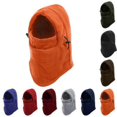Warm Winter Motorcycle Thermal Fleece Ski Balaclava Full Face Neck Mask Cap Hat