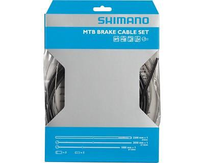 Workshop Made Shimano MTB Brake Cable Set Kit Stainless Steel - BLACK
