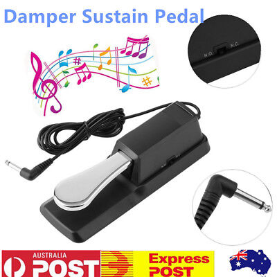 Sustain Pedal Piano Damper Foot Switch for Keyboard Yamaha Casio Roland Korg Acc