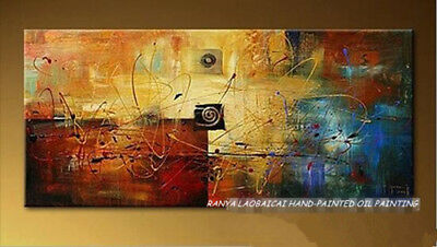 """HH223 Large Modern Hand-painted Abstract oil painting Color art No Frame 48"""""""