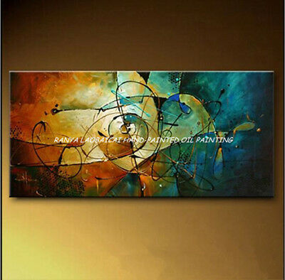 """HH224 Large Modern Hand-painted Abstract oil painting Color art No Frame 48"""""""