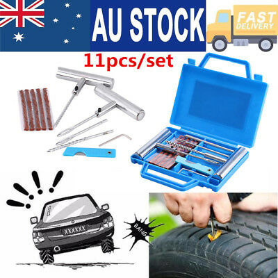11X Tyre Tire Repair Kit Tubeless Car Auto Vehicle Motorcycle Bike Puncture Set