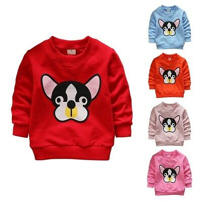 Baby Toddler Boys Girls Pullover Long Sleeve Clothes Tops Sweater Blouse 0-3Y